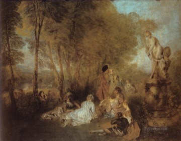 La Fete damour Jean Antoine Watteau Oil Paintings